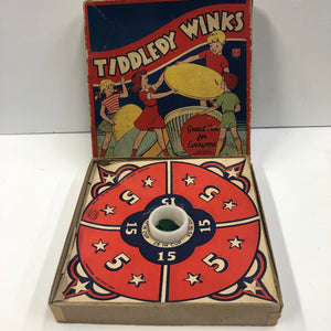 Vintage Tiddledy Winks Toy Package