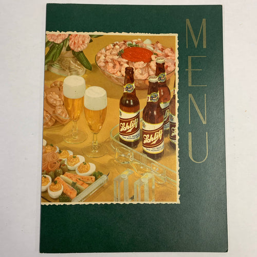 Old SCHLITZ BREWING Company Menu, Milwaukee, Beer