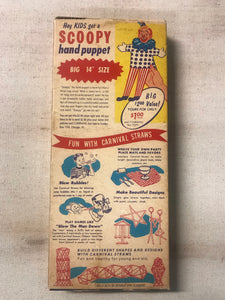 Vintage Carnival Straws Packaging with Original Straws Inside by National Soda Straw Company - TheBoxSF