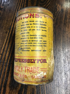 Vintage Picnic Baking Powder Tin Can - TheBoxSF