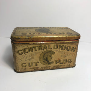 Vintage Central Union Tobacco Tin