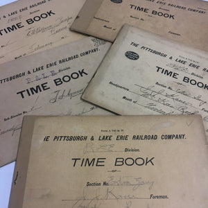 Antique Railroad Time Sheets 1905