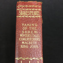Load image into Gallery viewer, Old Vintage SHAKESPEARE Book, Taming of the shrew, MacBeth, Ling John, winters tale - TheBoxSF