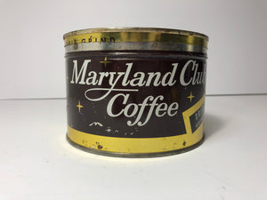 Vintage Maryland Club Coffee Tin