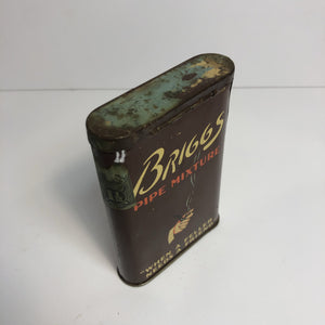 "Vintage BRIGGS PIPE MIXTURE Tobacco Tin, ""When a Feller Needs a Friend""  