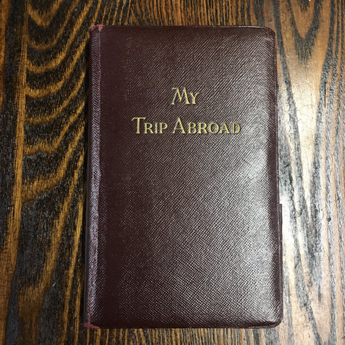 My Trip Abroad Journal | Vintage Old Vacation Ledger Travel - TheBoxSF