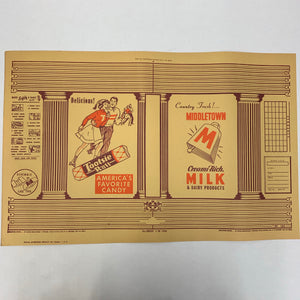Old TOOTSIE ROLL Packaging, America's Favorite Candy, Middletown Milk