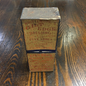 Old WHITTEMORE'S Gilt Edge Dressing BOX, Shoes, Leather - TheBoxSF