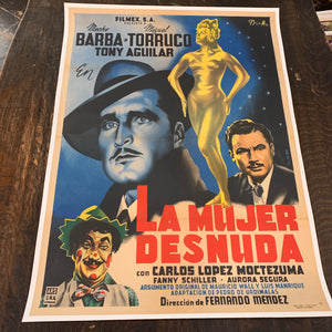 "Mexican Movie Poster, ""La Mujer Desnuda"" 1953 