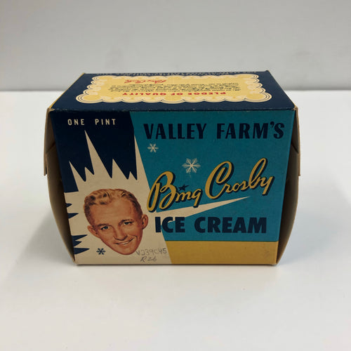 Vintage Bing Crosby Ice Cream Packaging Box