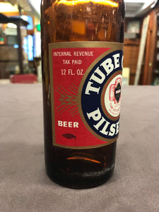 Vintage Tube City Pilsner Beer Empty 12 oz Bottle bottled in McKeesport, PA by Tube City Brewery