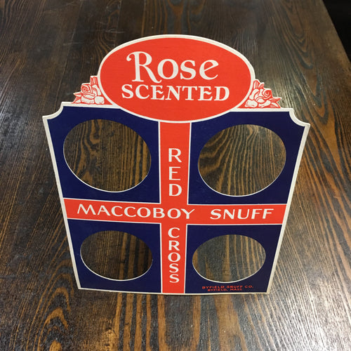 Old, Rose Scented, RED CROSS Maccoboy Snuff Store Display - TheBoxSF