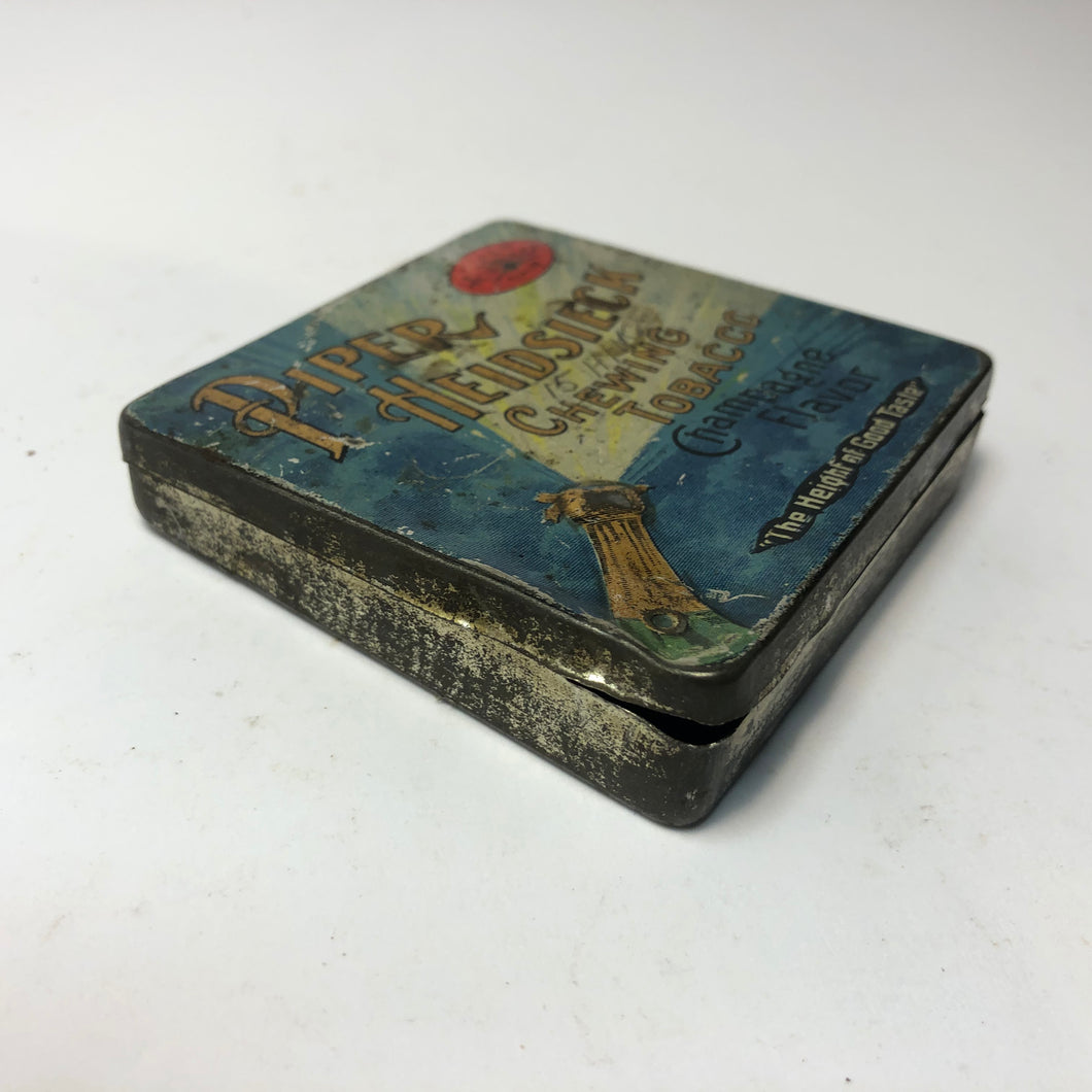 Vintage Piper Heidsieck Chewing Tobacco Tin || EMPTY