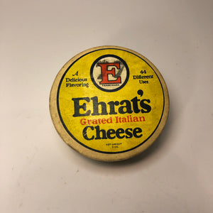 Vintage Yellow Ehrat's Cheese Container Box