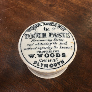 Woods Areca Nut TOOTH PASTE Container, Plymouth | Teeth & Gums - TheBoxSF