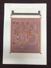 Load image into Gallery viewer, Beautiful Chromolithograph Book Plate Illuminated Letters About 100 Years Old - Plate Number 13