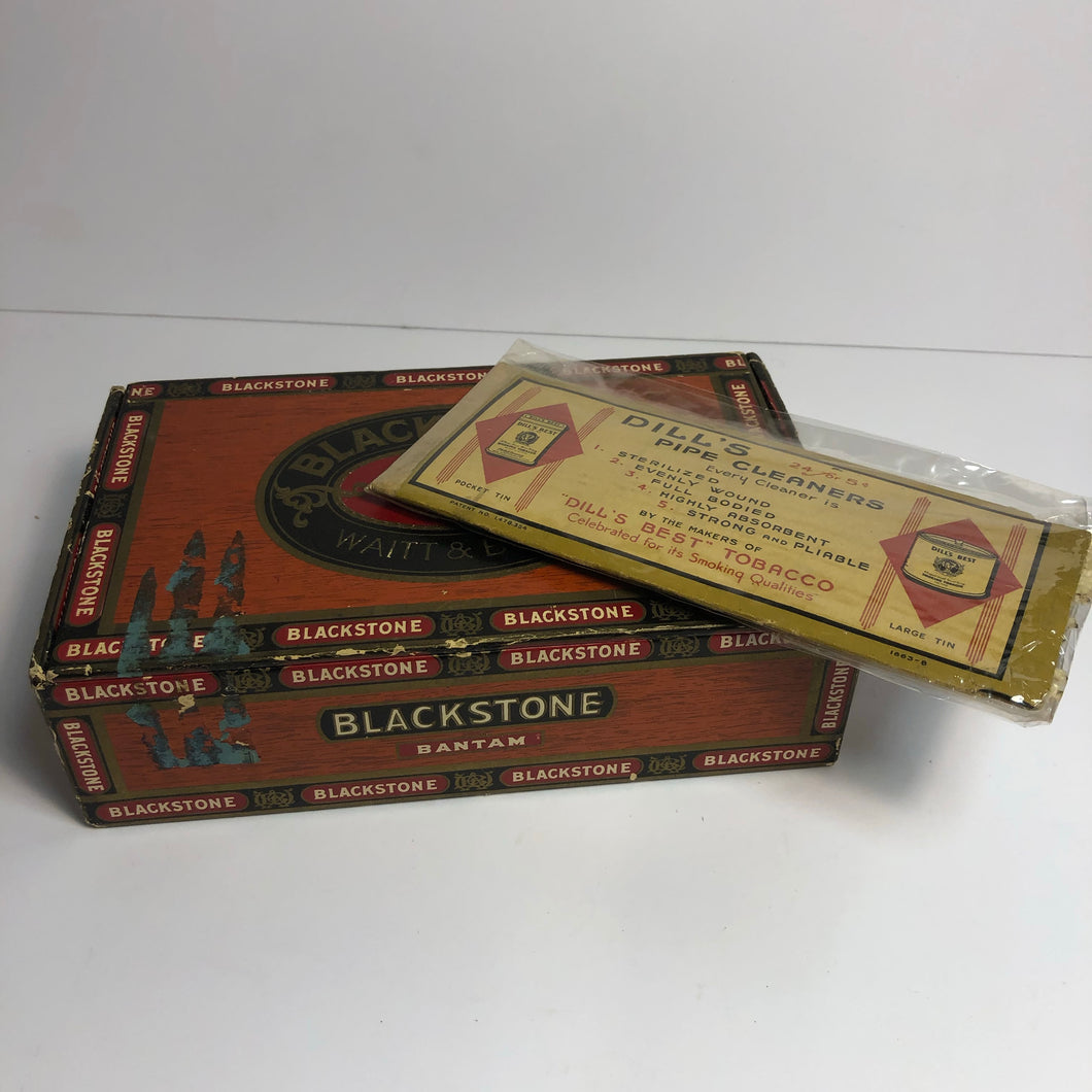 Vintage Blackstone Cigar Box with Pipe Cleaner Package || EMPTY