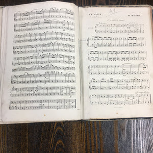 Old CONTREBASSE Music Book, Songs - TheBoxSF