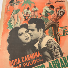 "Load image into Gallery viewer, Old Mexican Movie Poster, ""El Charro del Arrabal"" Linen Mounted"