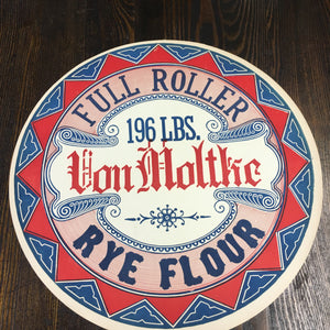 Old Full Roller VON MOLTHE Rye Flour Label, Vintage - TheBoxSF