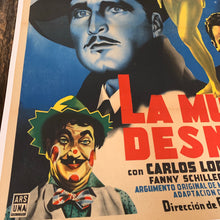 Load image into Gallery viewer, Old Mexican Movie Poster, La Mujer Desnuda, Mounted to Linen