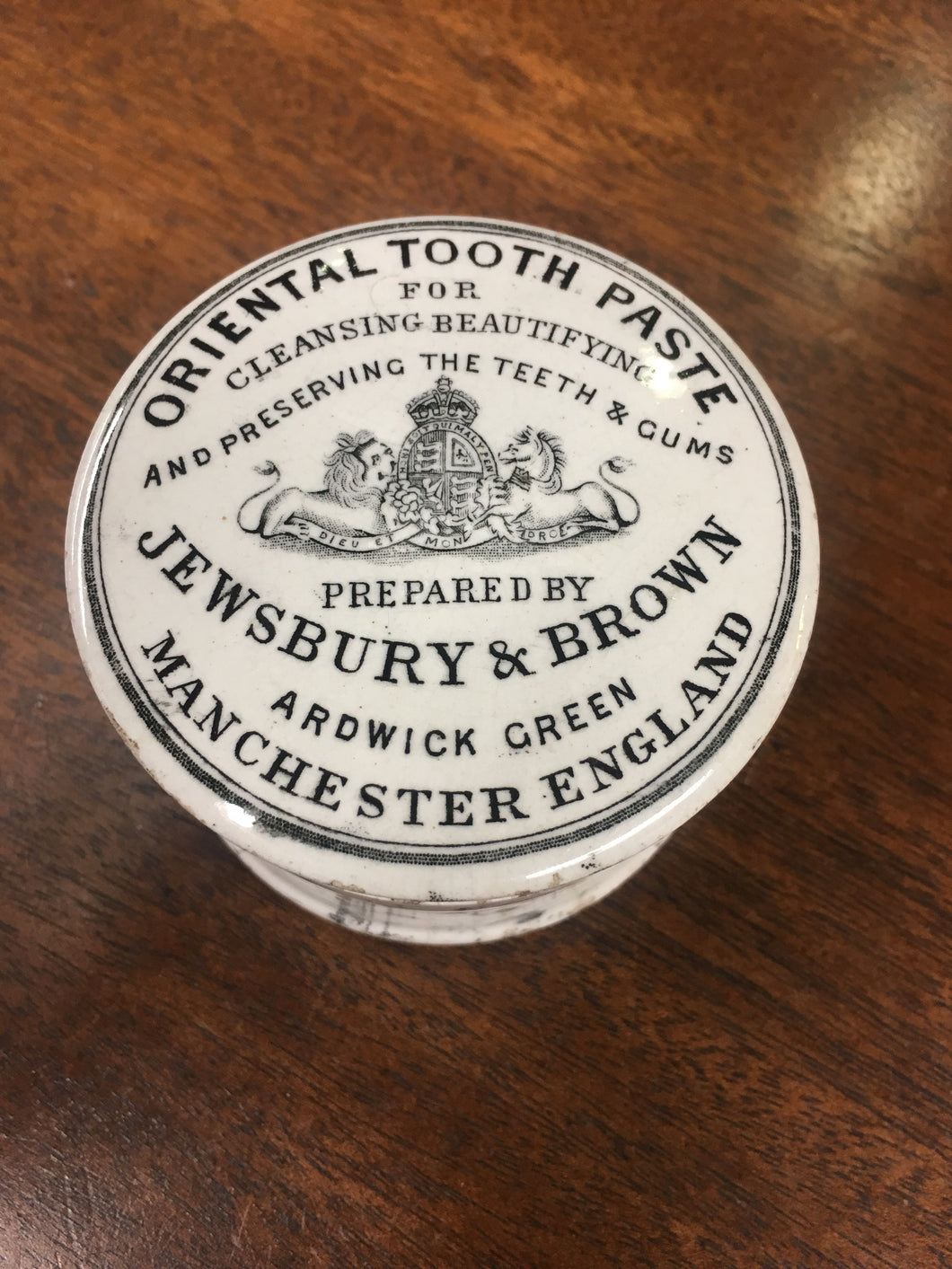Oriental TOOTH PASTE Container, Manchester England | Teeth & Gums - TheBoxSF