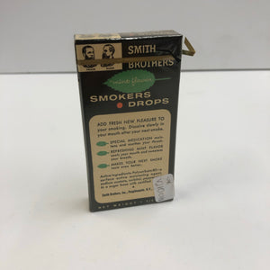 Vintage Smith Brothers Smokers Drops Box