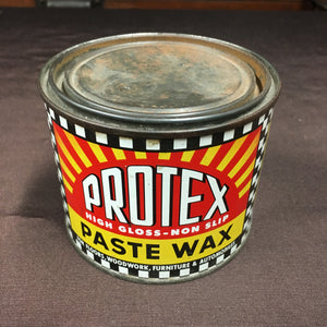 Old Vintage, Medium Size, Protex High Gloss PASTE WAX Can, Floors, Woodwork, Furniture - TheBoxSF