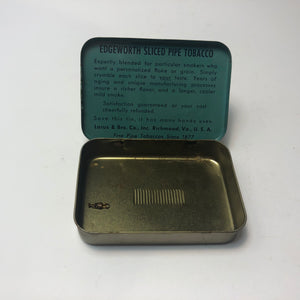 Blue Edgeworth Pipe Tobacco Tin Box --Open Box