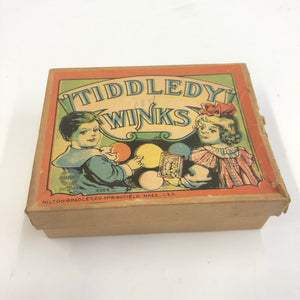 Vintage Tiddledy Winks Toy Box