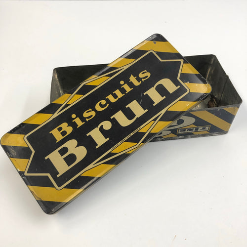 Vintage Biscuits Brun Tin