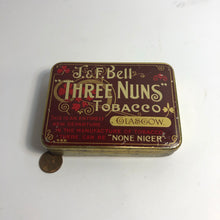 Load image into Gallery viewer, Scale of Three Nuns Tobacco tin by J&F Bell