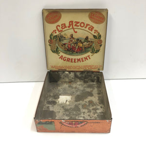 Vintage La Azora Agreement Tobacco Tin