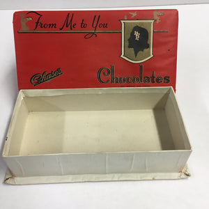 Old Chase's Candy CHOCOLATE Box, From Me to You