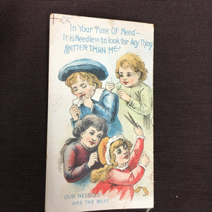 Old vintage SEWING Society Needle Book | Clothes - TheBoxSF