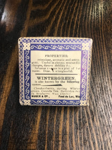 Vintage Wintergreen Tea Package by Nuber & Co. - TheBoxSF