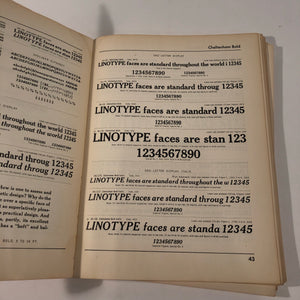 LINOTYPE ONE-LINE SPECIMENS BOOK