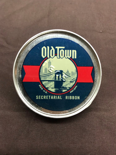 Vintage Old Town Typewriter Ribbon Packaging with Original Ribbon Inside by Old Town Corporation