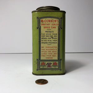 McConnon's Antique Cinnamon Tin Cannister - Back
