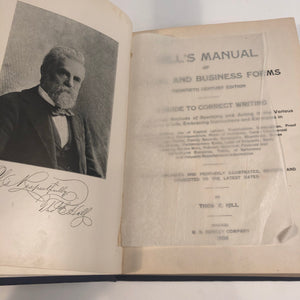 HILL'S MANUAL SOCIAL AND BUSINESS FORMS BOOK, 1906 EDITION
