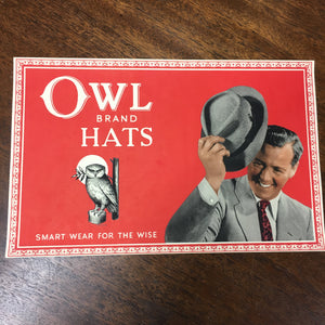 OWL Brand HATS Label, Smart Wear for the Wise | Clothing - TheBoxSF