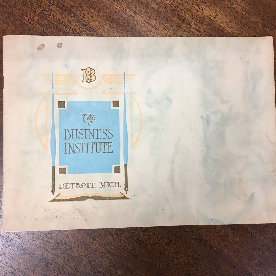 The Business Institute Book, Detroit Michigan | School | History - TheBoxSF
