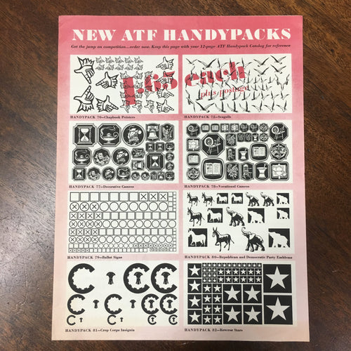 4 Page, ATF Handypack Catalog | Insignia | ornaments | symbols - TheBoxSF