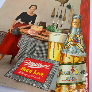 Old Original MILLER High Life BEER Menu, Brewed & Bottled