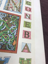 Load image into Gallery viewer, Beautiful Chromolithograph Book Plate Illuminated Letters About 150 Years Old - Plate Number 78