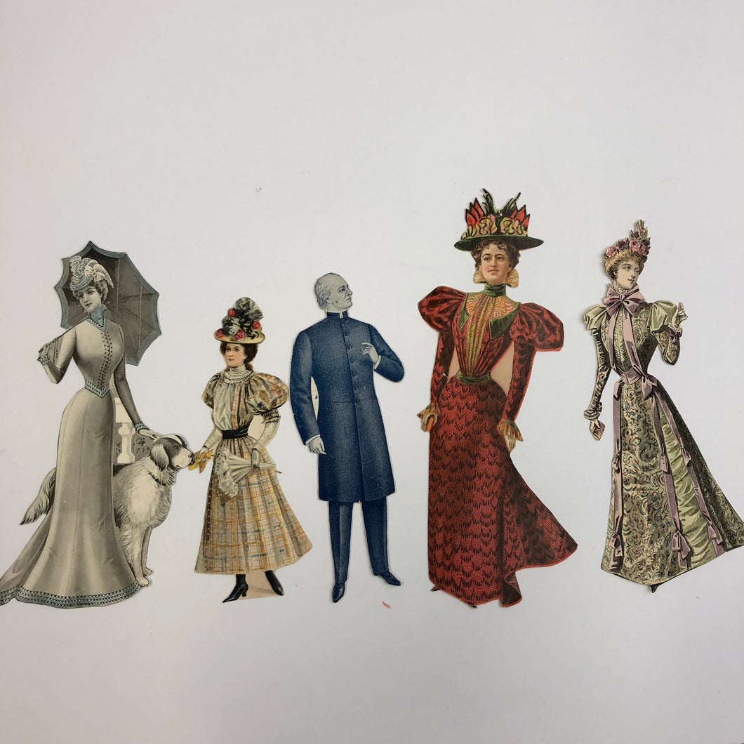 Victorian paper doll full set - ephemera
