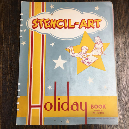 STENCIL Art HOLIDAY Book by Art Krenz | Christmas | Thanksgiving | Halloween - TheBoxSF