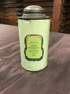 Beautiful Antique Orion Talcum Powder Tin Packaging from New York, NY - TheBoxSF