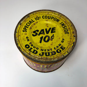 Great Vintage Old Judge Coffee Tin