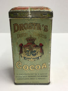 Old DROSTE'S Dutch Process COCOA Tin, Vintage Hot Chocolate, Haarlem